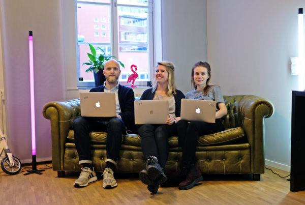Christoffer Persson, Emelie Fågelstedt och Yasmine Åkermark, grundare av Svenska Nomader.