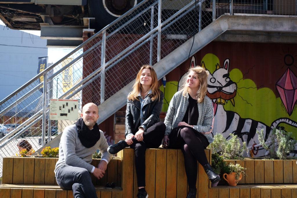 Christoffer Persson, Yasmine Åkermark och Emelie Fågelstedt, grundare av Svenska Nomader.