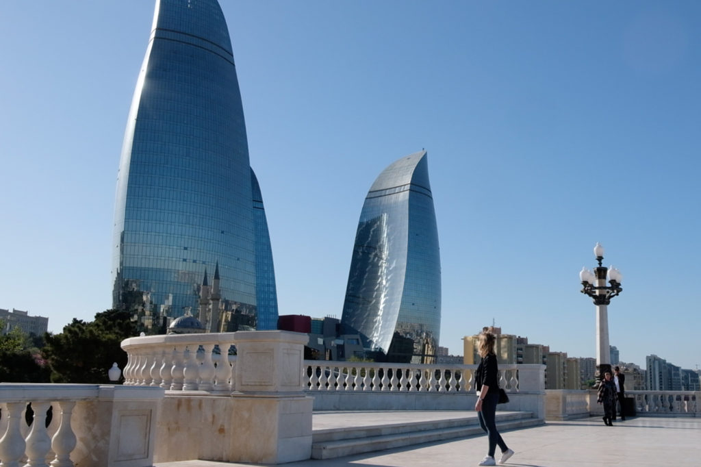 Flame towers i Baku
