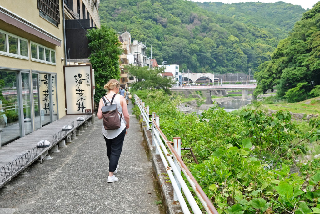 Hakone Yumoto är den första staden man når när man kommer till bergsorten Hakone.