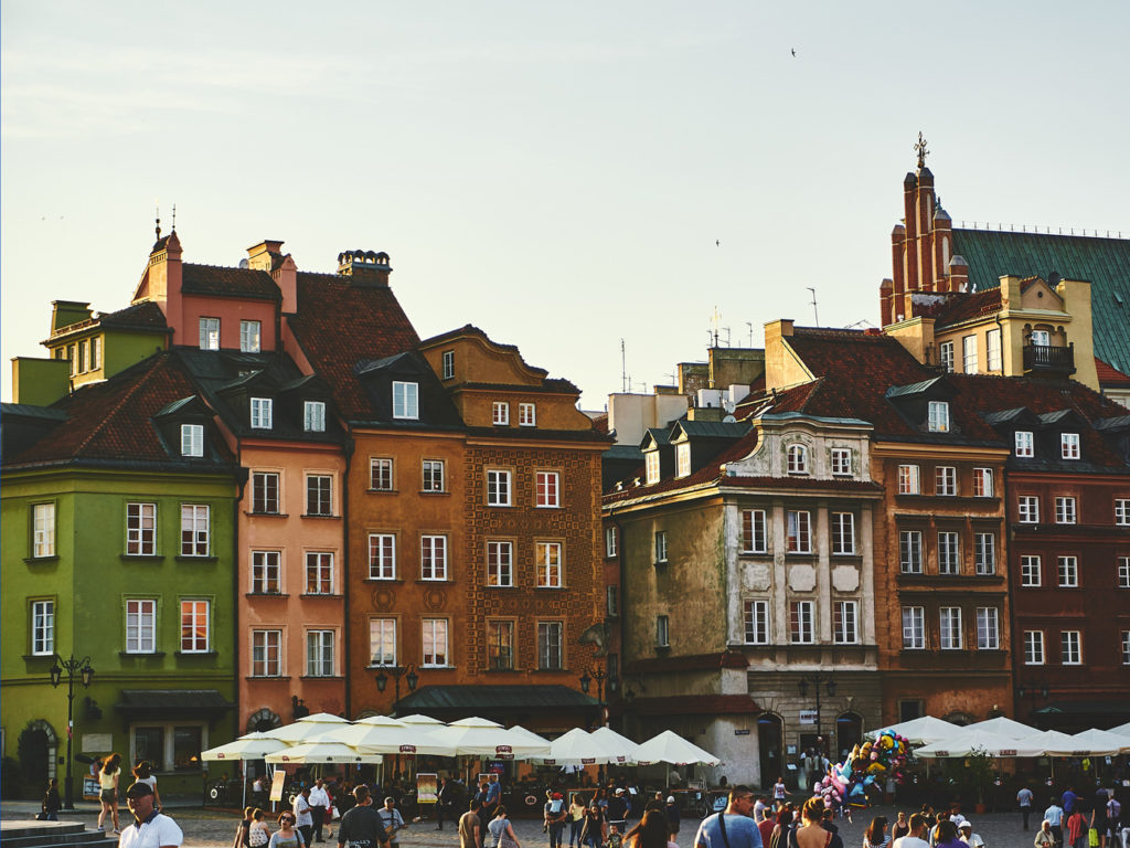 Plac Zamkowy i Warszawa, Polen