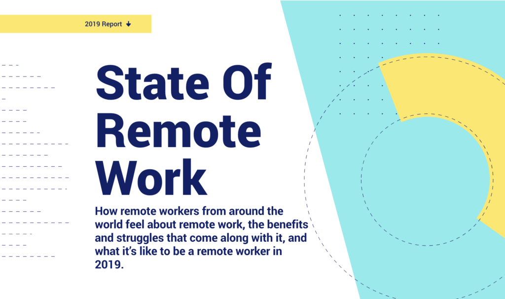 Omslaget på state of remote work-rapporten