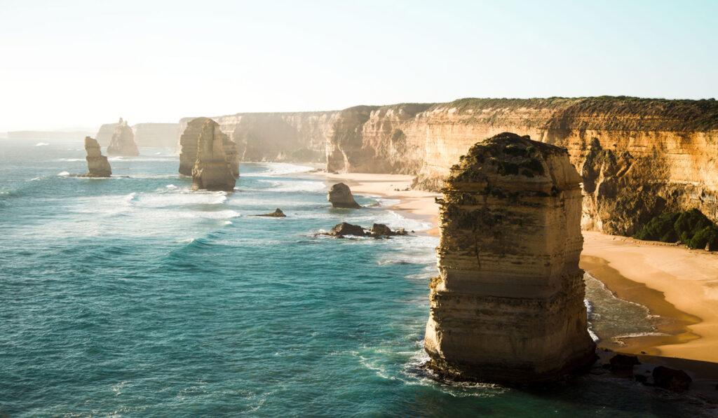 Fantastiskt kustlandskap i Australien