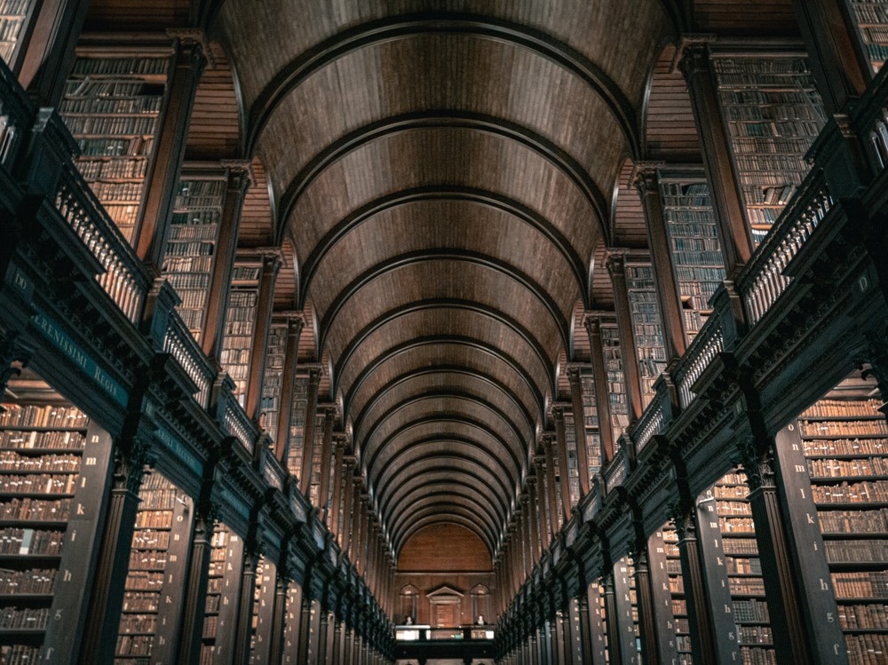 biblioteket på Trinity College