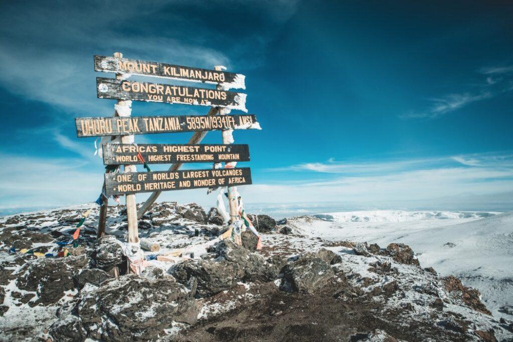 kilimanjaro skylt