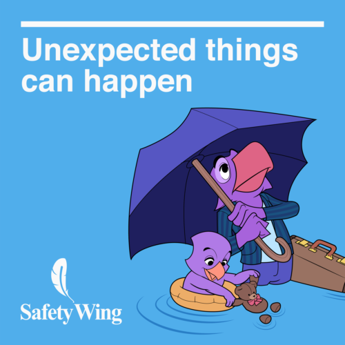 Unexpected things can happen - Safety wing