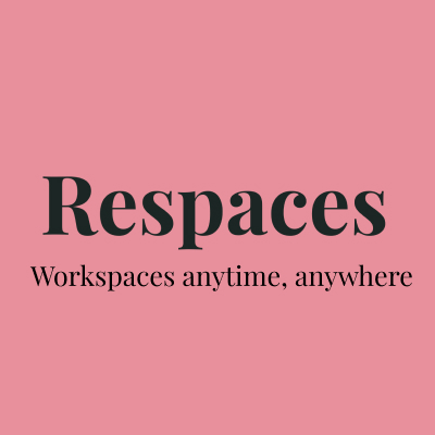 Respaces omslag – med deras slogan; Workspaces anytime, anywhere