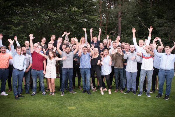 Appjobs-teamet på en av sina kvartalsvisa outings