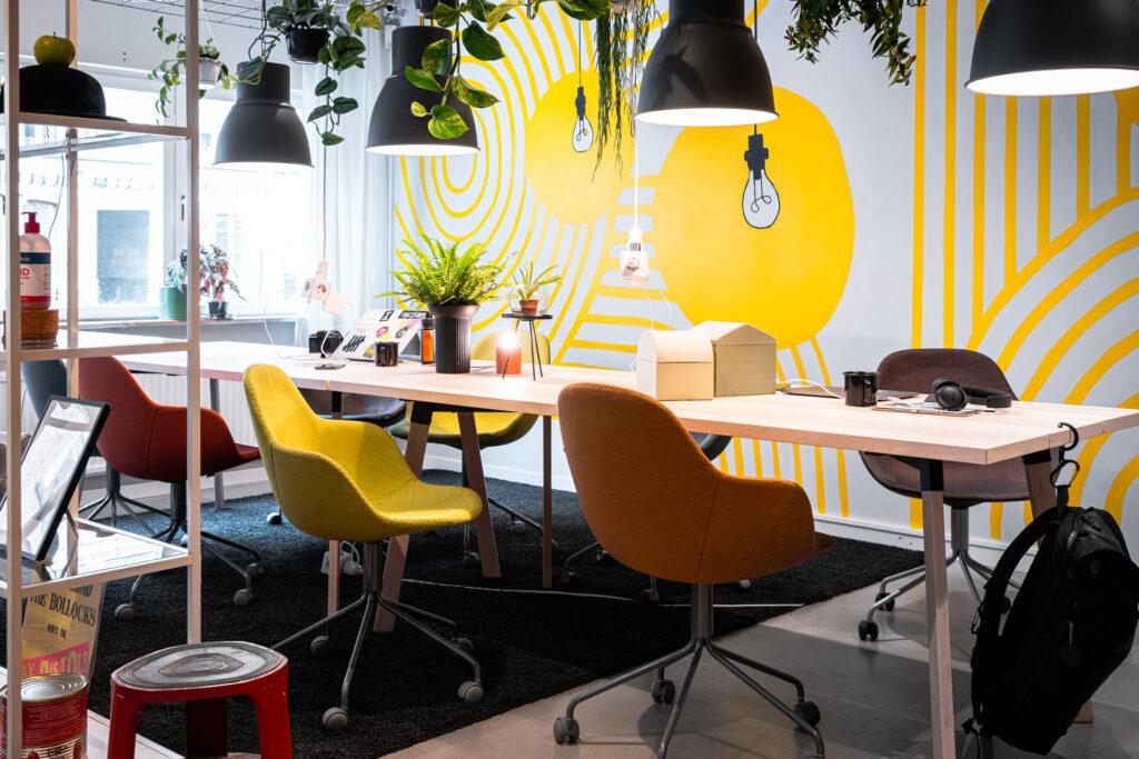 Creative Hub STHLMs Kaffe & Wifi-koncept