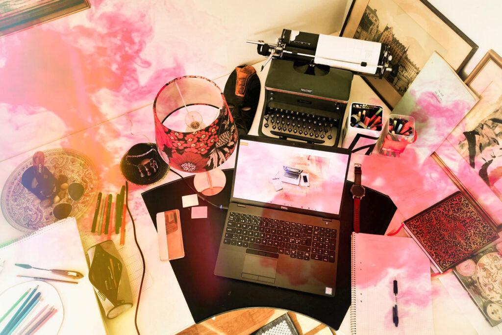Malin Strandvalls skrivbord