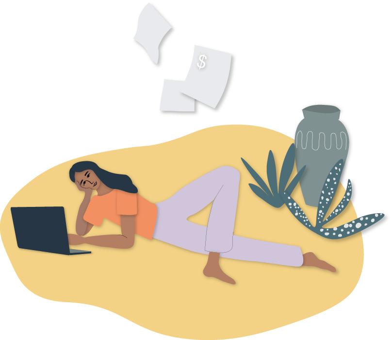 Illustration om att fakturera avslappnat