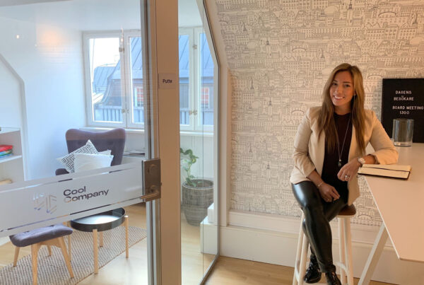 Melanie Temml på Cool Companys kontor
