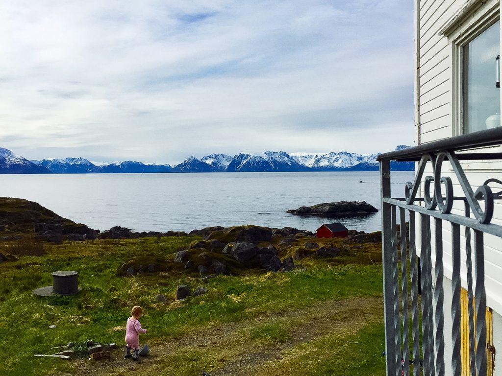 Utsikten från Linda Plogmarks hem i Norra ishavet