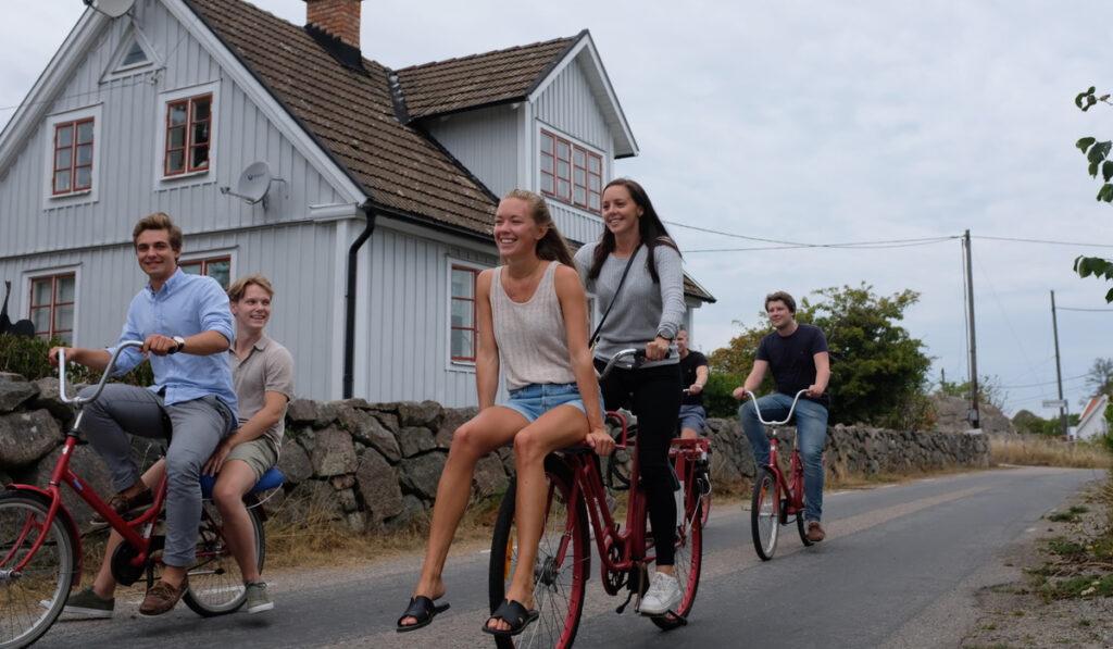 qte teamet på cyklar i Sverige