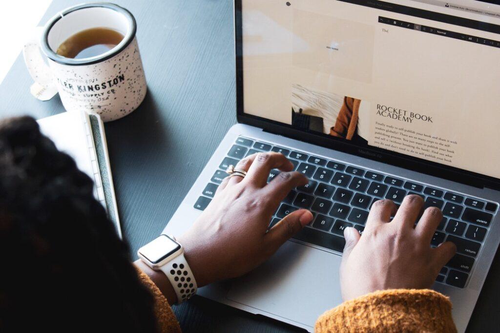 Freelance writer laptop
